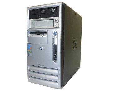 WinXP-Home 中古デスクトップ タワー型HP dx6100 MT(DX439AV)【中古】Pentium4-2.8GHz/1GB/120GB/DVDコンボ