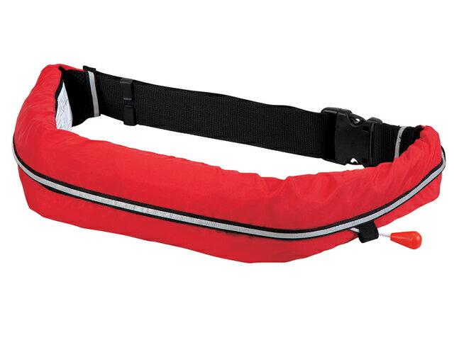 自動膨張式 ライフジャケット ベルト式/オーシャンWR-1型レッド 国交省認定品 新基準対応