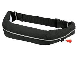 自動膨張式 ライフジャケット ベルト式/オーシャンWR-1型ブラック 国交省認定品TYPE-A 検定品 新基準対応
