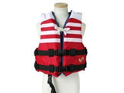小児用ライフジャケット BSJ-210C(M) レッド BLUESTORM 高階救命器具 国交省型式承認品 小型船舶用救命胴衣