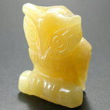 ミニ彫り物|ふくろう|置物|アラゴナイト(Aragonite)/能力の向上/集中力/魅力/存在感/お守り|才能開花|天然石|パワーストーン| 【RCP】 10P13Nov14