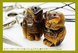 パワーストーン モチーフビーズ(立体)ミニふくろう (穴あり) タイガーアイ(16mm)|1個売り|バラ売り 手作りにオススメ! 天然石|パワーストーン| 【RCP】 10P25Oct14