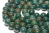 【丸ビーズ】ブラッドストーン 10mm グリーンカラー|一連|メール便可|天然石|パワーストーン| 【RCP】 10P05July14