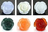 モチーフビーズ・薔薇 (立体)|12mm 1粒売り|バラ売り 手作りにオススメ! 天然石|パワーストーン|【RCP】 10P13Nov14