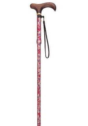 花柄5段折りたたみ杖フォーライフメディカルシニア市場敬老の日プレゼントギフトに最適福祉・介護市場・ス