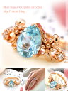 "It is ToS [immediate delivery] [I will take my ease tomorrow] に ・・★"" blue topaz X crystal zirconia sky pre-Shea ring royal with a jewel of clear pure blue"