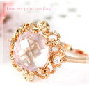 [free shipping] is ToA the  &quot; rose quartz X crystal zirconia love me pudding Shea sling / pink gold-collar that spread through a lot of backs of the finger, and is colored love gently [immediate delivery] [will take its ease tomorrow]