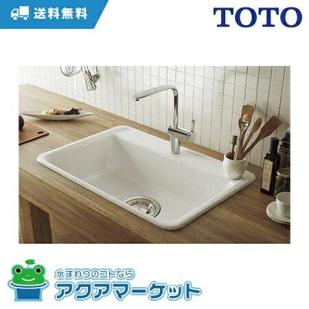 CEL518S-WH TOTO [送料無料] 洗面・手洗 セラオリジナルコレクション シングルシンク ホワイト いものホーロー製 806×540