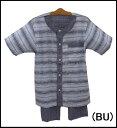 【WELDON】ウエルドン半袖+7分丈パンツパジャマ 前開き綿麻クレープ素材メンズパジャマ【送料無料】【ギフトラッピング対応商品】