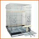 鳥かご 鳥籠 バードケージ オカメインコ / HOEI 465パラキート 底カラー:ブラック+おまけ付き♪ (組立サイズ:465x465x650mm)【送料無料】