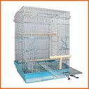鳥かご 鳥籠 バードケージ オカメインコ / HOEI 465パラキート 底カラー:ブルー+おまけ付き♪ (組立サイズ:465x465x650mm)【送料無料】
