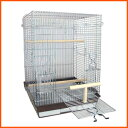 鳥かご 鳥籠 バードケージ オカメインコ / HOEI 465パラキート 底カラー:ブラウンー+おまけ付き♪ (組立サイズ:465x465x650mm)【送料無料】