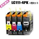 送料無料 インク カートリッジ LC111-4PK 送料無料 (お徳用4色セット)MFC-J980DN DWN MFC-J890DN MFC-J870N MFC-J820DN MFC-J820DWN M..
