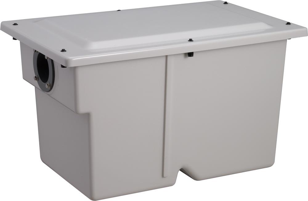 前澤化成工業 FRP製グリーストラップ 小容量床置き型(容量20L) プッシュロック式 GT-20FP