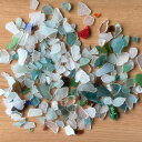 【写真通り】純天然 静岡県のシーグラス(ビーチグラス) ハンドメイド、クラフト 材料、手づくりアクセサリーにマジカルなパワーを込めたい人に(seaglass-000f)(小さめのアソート)ガラス カレット【新】【P10】