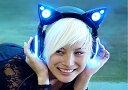 猫耳ヘッドホン/猫耳ヘッドフォン/AXENT WEAR/ヘッドホン かわいい【国内正規品/1年保証/日本語説明書付】ヘッドホン おすすめ/ネコ耳ヘッドフォン/ヘッドホン女子/LED付き/スピーカー機能付き/Cat ear headphones
