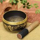 シンギングボール チベット仏教 法具 五仏 木製革巻きリン棒(Sサイズ)付き 癒し ヒーリング
