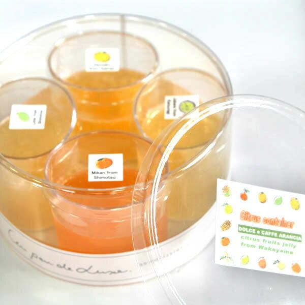 【冷凍】CITRUS CONTAINER和歌山産旬の柑橘フルーツのゼリー4種詰め合わせギフト【楽ギフ_メッセ入力】おもたせ、ギフト、プレゼント、お中元に