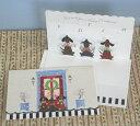 立体クリスマスカード(3匹の犬たち) 【グリーティングカード・ギフトカード・メッセージカード・greeting card message】【メール便可】