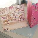 多目的立体カード ESPECIALLY FOR YOU 「木々の中で気ままに楽しむ鳥たち鳥」ポップアップカード【グリーティングカード・ギフトカード・メッセージカード・greeting card message】【メール便可】