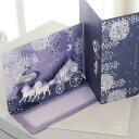 多目的立体カード ESPECIALLY FOR YOU 「雪が舞う夜の森のお城と馬車」ポップアップカード【グリーティングカード・ギフトカード・メッセージカード・greeting card message】【メール便可】