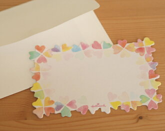 Mini cards die cut heart