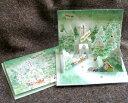 立体クリスマスカード(樹氷の森とチャペル) 【グリーティングカード・ギフトカード・メッセージカード・greeting card message】【メール便可】