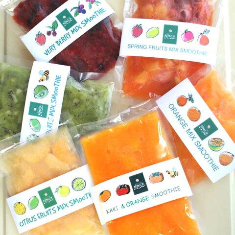 【送料無料】和歌山産フレッシュフルーツの手作りスムージーベース6種類お試しセット(冷凍便)/北海道・沖縄は送料500円