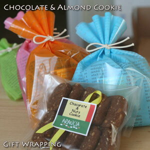 チョコナッツクッキー ギフトラッピング バレンタインプチギフト チョコレート アーモンド クッキー プレゼント