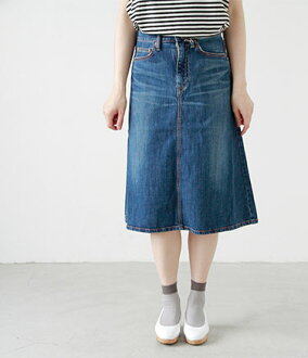 ■ DMG Brocante (DMG Blount) 5 p Marche denim skirt 37-001d / standard products