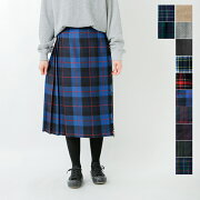 O'NEILOFDUBLIN(オニールオブダブリン)aranciato別注ウールプリーツ巻きスカート5073