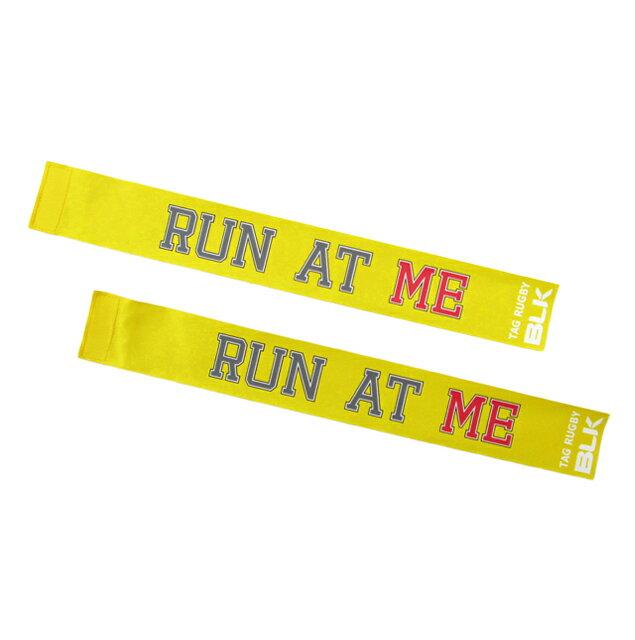 BLKタグ・ラグビー用タグ(Run at Me)*黄色 AR008-302