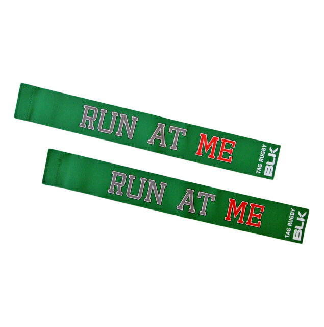 BLKタグ・ラグビー用タグ(Run at Me)*緑色 AR008-304
