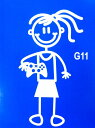 楽天ARAKI SPORTSThe Sticker Family 【Gamer Girl TVゲーム女の子】G11
