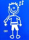 The Sticker Family 【iPod Older Boy iPodお兄ちゃん】OB1 車 カーステッカー
