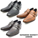 ショッピングストラップ KATHARINE HAMNETT キャサリンハムネット モンクストラップ ビジネス シューズ 31591 紳士靴 【nesh】 【新品】