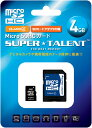 SUPER TALENT (パッケージ不良)安心の3年保証 microSDHCカード 4GB Class 6 ST04MSC4A