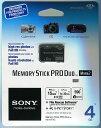 [Sony] Memory Stick ProDuo 4GB 海外パッケージ 著作権保護機能搭載IC記録メディア MS-MT4G/N
