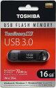 [TOSHIBA] 新品アウトレット(箱不良) 最大読込速度70MB/s!東芝 USB3.0 フラッシュメモリ TransMemory-MX 16GB V3SZK-016G-BK
