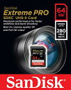 [Sandisk] 読込最大280MB/s 書込最大250MB/s!サンディスク Extreme PRO SDXC UHS-II Card 64GB 海外パッケージ SDSDXPB-064G-G46
