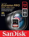 [Sandisk] 読込最大 633倍速 95MB/s!サンディスク Extreme Pro SDXCカード Class 10 UHS-I U3対応 256GB SDSDXPA-256G-G46