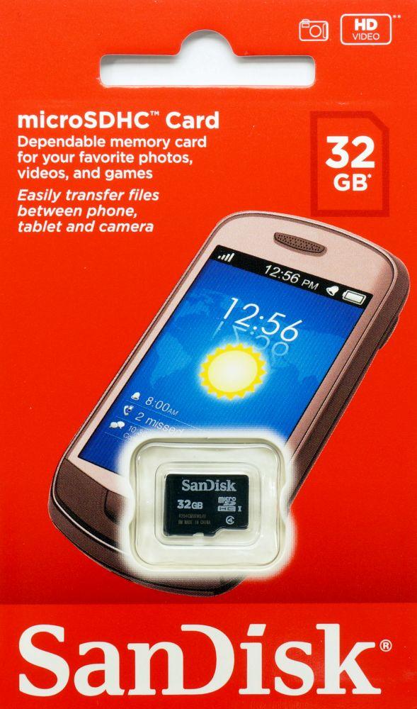 Sandisk サンディスク 32GB Class 4 microSDHCカード 海外パッケージ SDSDQM-032G-B35
