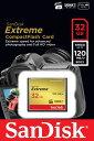 Sandisk サンディスク Extreme 800倍速CFカード 32GB (120MB/s UDMA7 対応) 海外パッケージ SDCFXSB-032G-G46