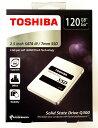 [TOSHIBA] 東芝 Q300シリーズ SSD 2.5inch 120GB SATA 6Gbps (読込:550MB/s 書込:450MB/s) HDTS812AZSTA 海外パッケージ