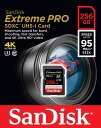 [SANDISK] サンディスク Extreme Pro V30対応 UHS-I U3 SDXCカード 256GB (読取95MB/秒、書込90MB/秒) SDSDXXG-256G-GN4IN