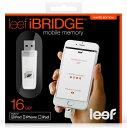【Leef Technology】 リファービッシュ iPhone/iPad/iPod用 USB2.0 Lightning フラッシュメモリー iBridge 16GB LIB000WW016AP ホワイト バルク品