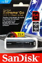 SanDisk サンディスク Extreme GO USB3.1対応 読込200MB/s 書込150MB/s 高速フラッシュメモリ 64GB SDCZ800-064G-G46