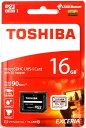 [TOSHIBA] 東芝 EXCERIA M302 読込最大90MB/s UHS-I U3対応 Class10 microSDHCカード 16GB THN-M302R0160A2 海外パッケージ