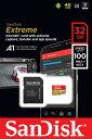Sandisk サンディスク 読込速度100MB/s 書込速度60MB/sの高速microSDHCカード!UHS-I U3 V30 A1対応 32GB SDSQXAF-032G-GN6MA 海外パッケージ