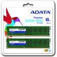 [ADATA] PC3-12800 DDR3-1600 DIMM 8GB(4GB x 2枚組) 省電力モデル AD3U1600W4G11-2